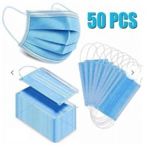 DISPOSABLE 03 PLY SURGICAL MASK PACK OF 50